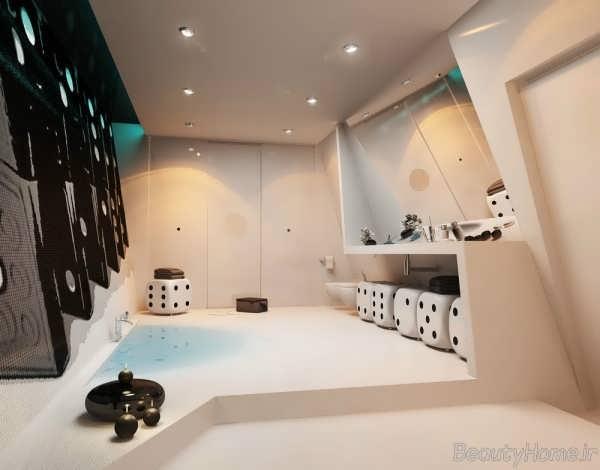 دکوراسیون حمام با طرح و ایده ای متفاوت
