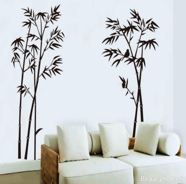 نقاشی بر روی دیوار پذیرایی