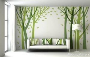 کشیدن نقاشی های جذاب و زیبا بر روی دیوار
