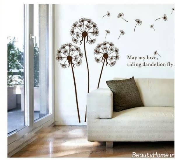 نقاشی های ساده بر روی دیوار