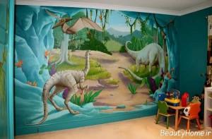 نقاشی بر روی دیوار اتاق کودک