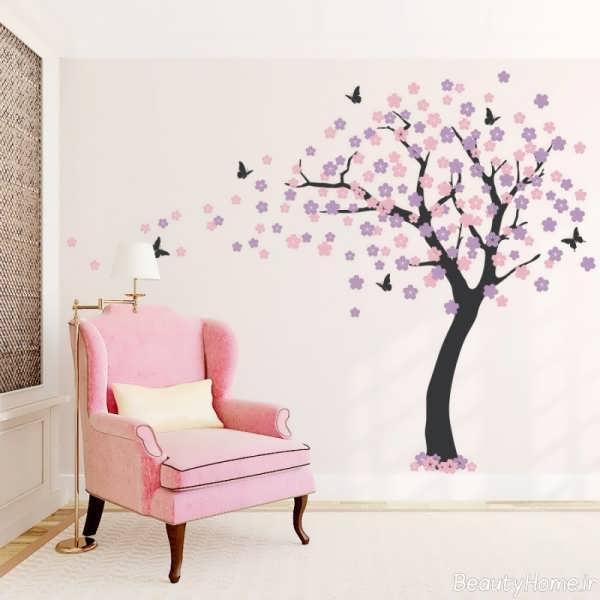کشیدن درخت بر روی دیوار