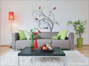 نقاشی ساده بر روی دیوار