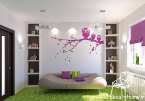 نقاشی های جذاب و متفاوت بر روی دیوار