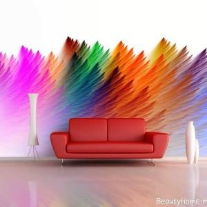 نقاشی با طرح های فانتزی بر روی دیوار