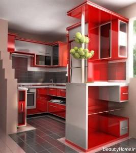 کابینت آشپزخانه کوچک با طرح های زیبا