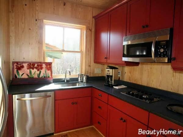 کابینت در طرح ها و رنگ های متنوع برای آشپزخانه کوچک