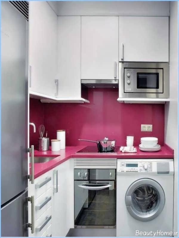 کابینت آشپزخانه کوچک زیبا و مدرن