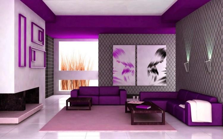 دکوراسیون بنفش برای خانه های زیبا و شیک