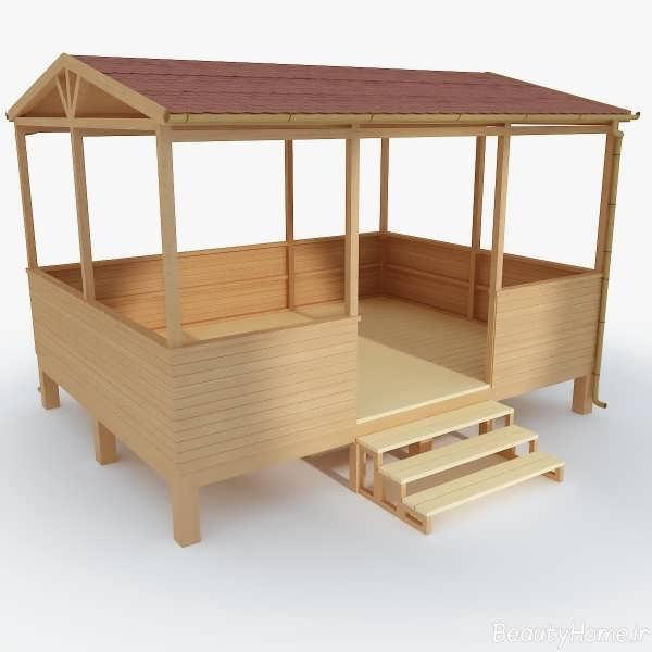 آلاچیق های پله دار چوبی