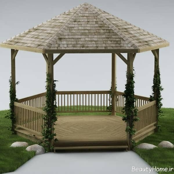 طراحی آلاچیق های چوبی با سبک مدرن