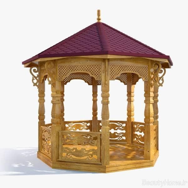 طراحی آلاچیق های چوبی شیک