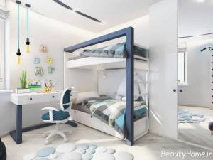 سرویس خواب کودک با دو رنگ