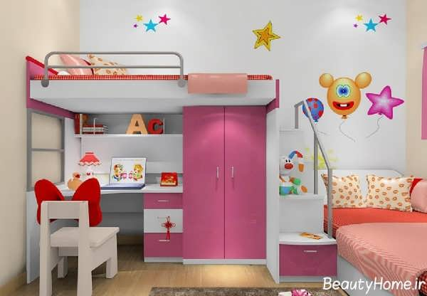 مدل تخت و کمد مدرن کودک