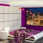 اتاق خواب بنفش با دکوراسیون های مدرن و متفاوت