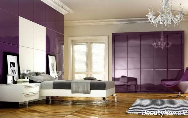 اتاق خواب زیبا با دکوراسیون رنگی