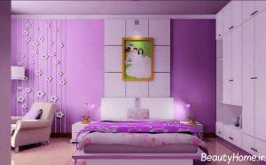 اتاق خواب بنفش دو نفره