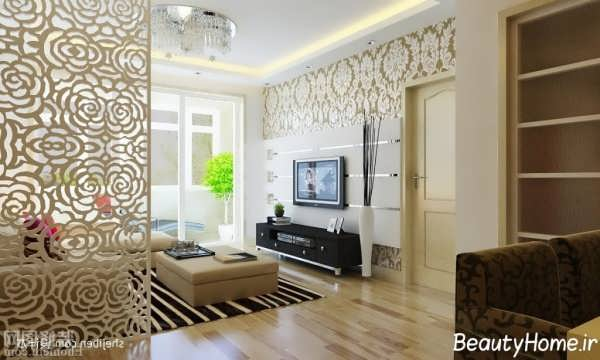 طراحی مدرن و متفاوت برای تزیین دیوار پشت تلویزیون