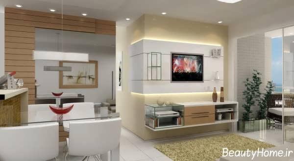 تزیین زیبا دیوار پشت تلویزیون