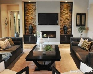 دیوار پشت تلویزیون با طراحی متفاوت