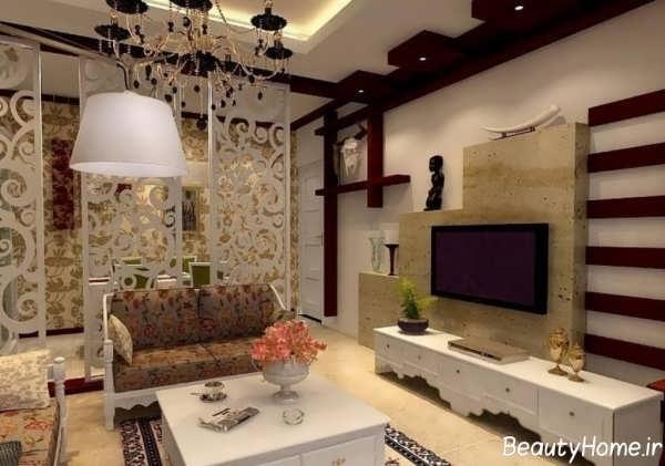 طراحی و تزیین دیوار پشت تلویزیون