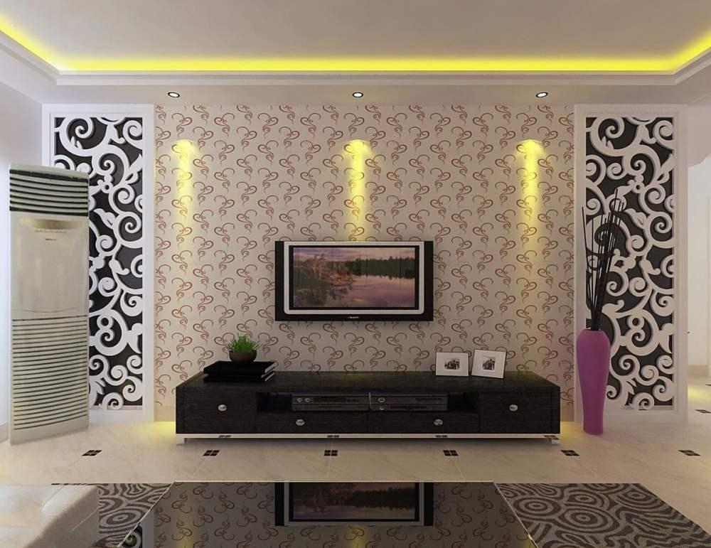 طرحی دیوار پشت تلویزیون با کمک ایده های جدید