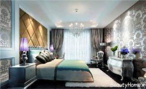 دکوراسیون اتاق خواب با کاغذ دیواری