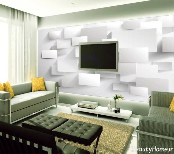 Home Decoration With Wallpaper (2)