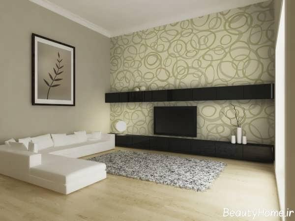 دکوراسیون منزل با کاغذ دیواری های زیبا