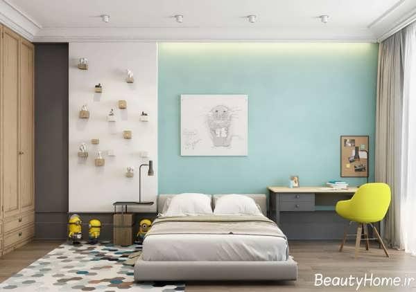 دیزاین زیبا و متفاوت اتاق خواب