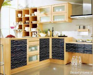 طراحی کابینت با دو رنگ مکمل