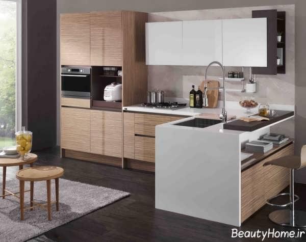 دیزاین متفاوت و جذاب کابینت آشپزخانه