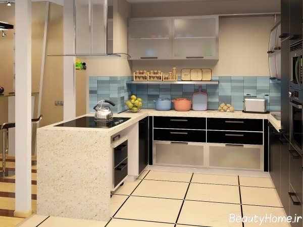 مدل طراحی کابینت برای آشپزخانه های کوچک