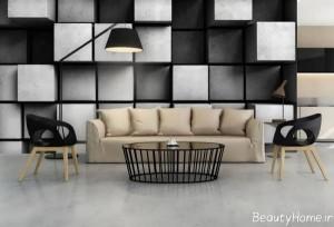 کاغذ دیواری زیبا و متفاوت سه بعدی