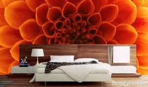 کاغذ دیواری با طرح گل