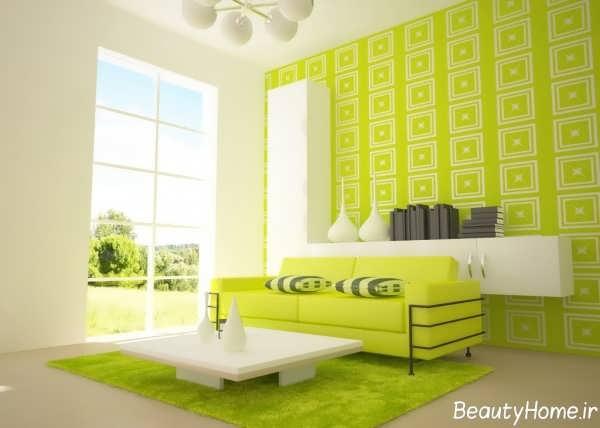 کاغذ دیواری با رنگ شاد و روشن