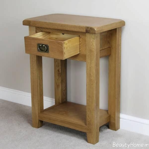میز تلفن چوبی