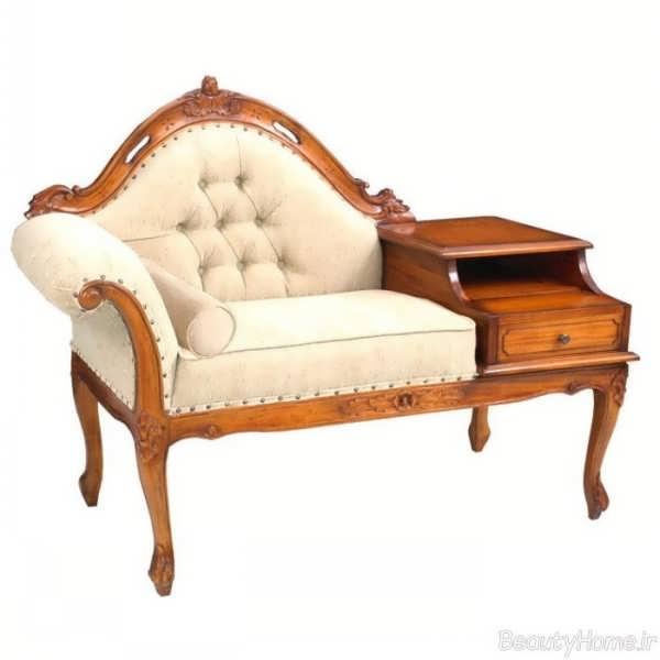مدل میز تلفن با طرح های سلطنتی