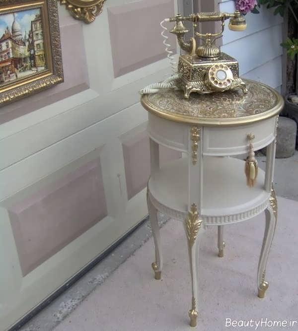 قیمت میز تلفن طلایی