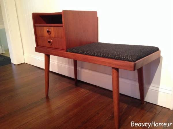 مدل های میز تلفن چوبی