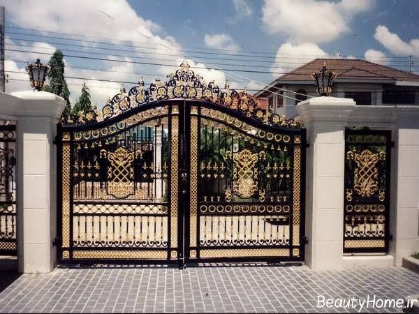 درب حیاط با طراحی بی نظیر
