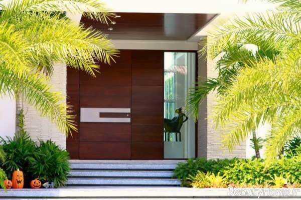 عکس های مدل درب حیاط خانه های مدرن و لوکس