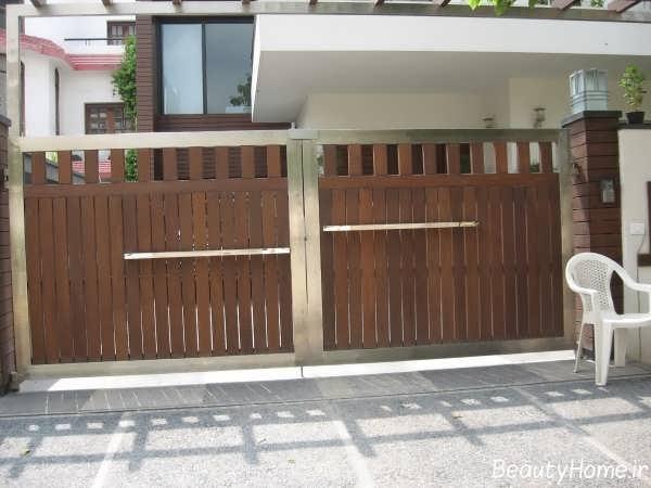مدل درب حیاط برای خانه های لوکس