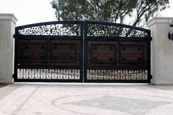 مدل درب حیاط بزرگ