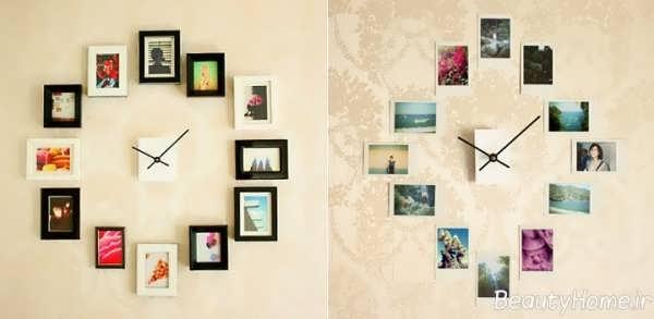 تزیین دیوار با ساعت های فانتزی