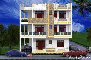 طراحی نماهای ساختمان چند طبقه