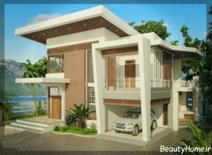 طراحی نمای ساختمان با دو رنگ