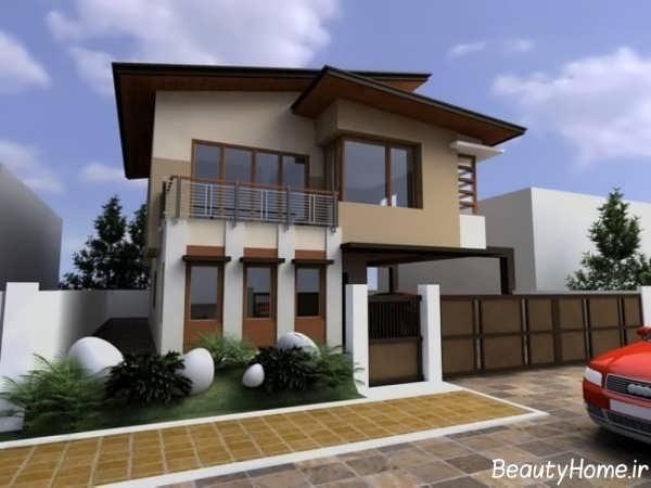 نمای خارجی شیک و مدرن ساختمان