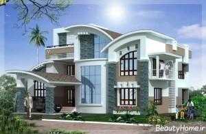 طراحی نمای خارجی ساختمان زیبا