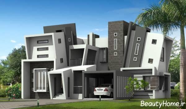 نمای خارجی جذاب و متفاوت نمای ساختمان